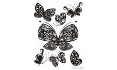 Velurová samolepka Motýli FL 0459
