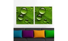 Samolepicí malířské plátno GoBig WallPanel Green