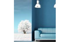 Samolepicí malířské plátno GoBig WallPanel All White - Bílá zima