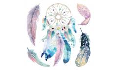 Samolepka Watercolour Dreamcatcher 54111 Barevný lapač snů