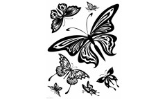Velurová samolepka Motýli FL 0483