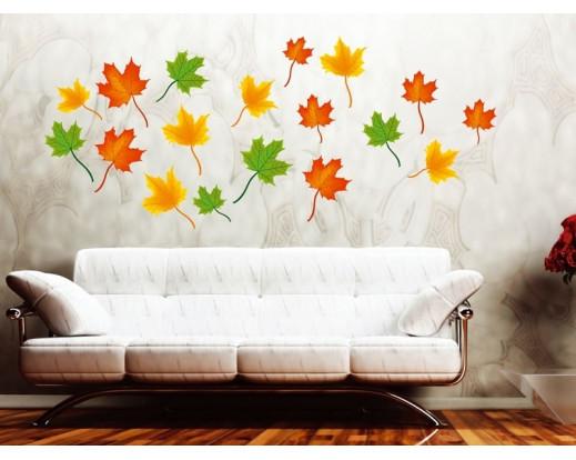 Samolepka Maple leaves, Javorové listy ST1 013