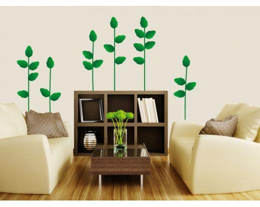 Samolepka Green plant, Rostlina ST1 014