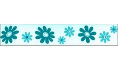 Samolepicí bordura Modré květy