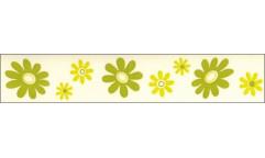 Samolepicí bordura Zelené květy