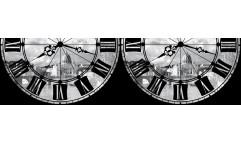 Samolepicí bordura Roma with Clock WB 8204