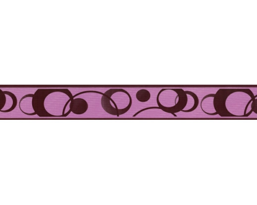 Samolepicí bordura  Fialová kolečka