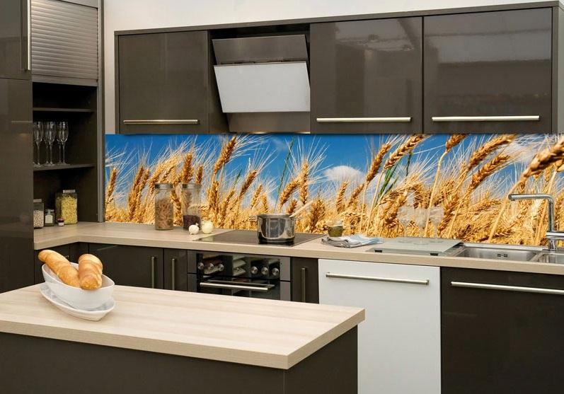 samolepic fototapeta k lince wheat field p eni n pole. Black Bedroom Furniture Sets. Home Design Ideas