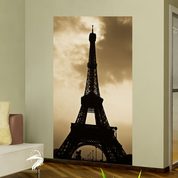 Samolepici Malirske Platno Gobig Wallpanel Paris Pariz Eiffelovka